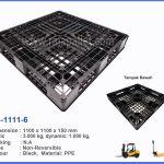 Jual Pallet Plastik Berkualitas D4-1111-6 Ukuran 1100x1100x150 mm